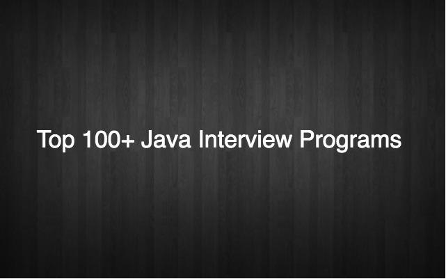 JavaInterviewPrograms