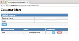 Spring Boot AngularJS Add Customer