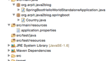 Spring Boot standalone project structure