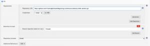 Jenkins project configurations