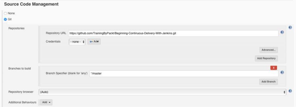 Jenkins Source Code Management Git