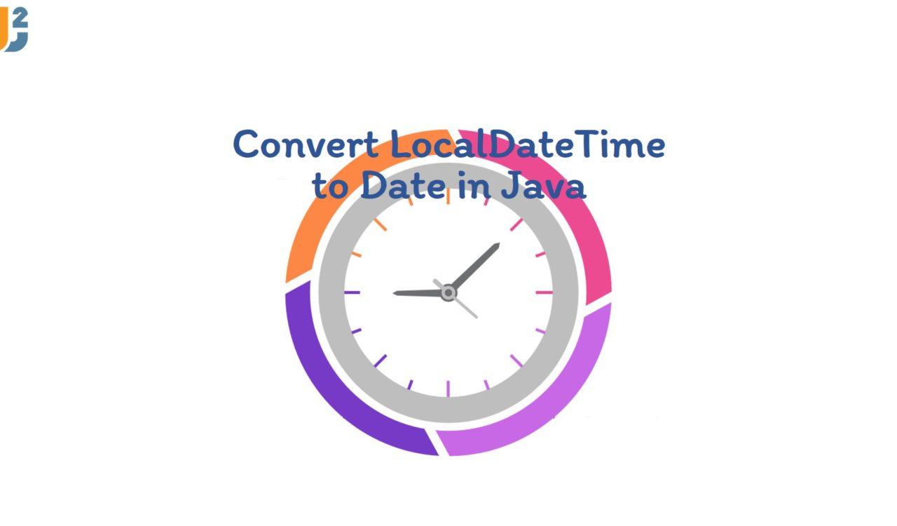 Convert LocalDateTime to Date in Java