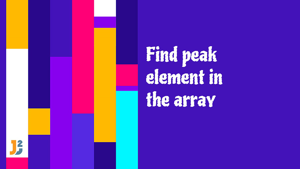 Find peak element in the array