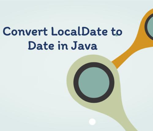 Convert LocalDate to Date in java