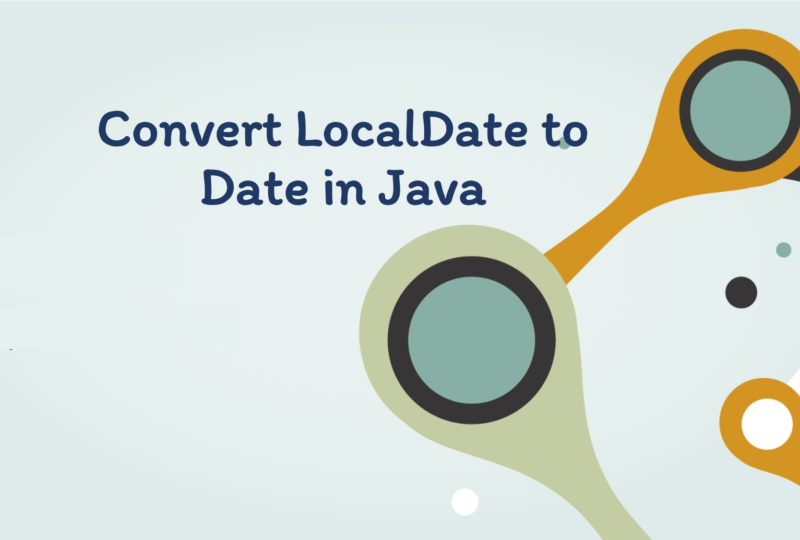 Convert LocalDate to Date in java
