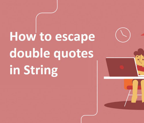 Escape double quotes in String in Java