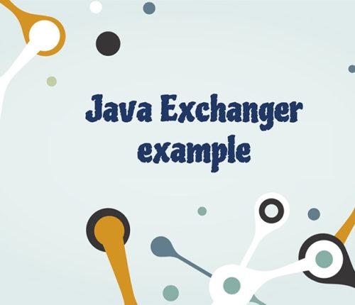Java Exchanger example