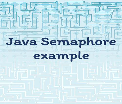 Java Semaphore example