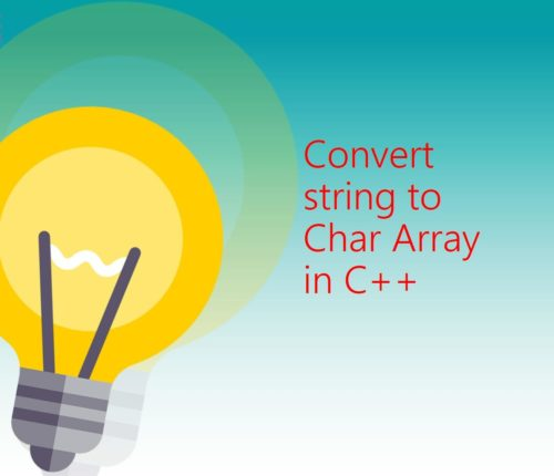 String to char array C++