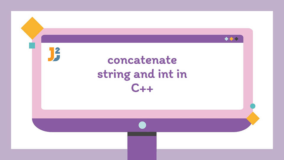 C++ concatenate string and int