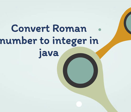 Convert Roman number to Integer in java