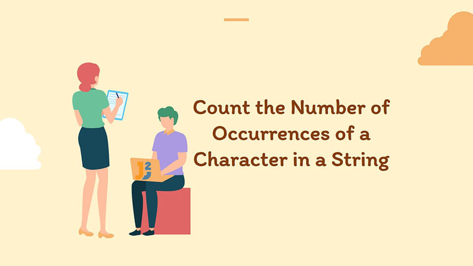 Count the Number of Occurrences of a Character in a String in Java