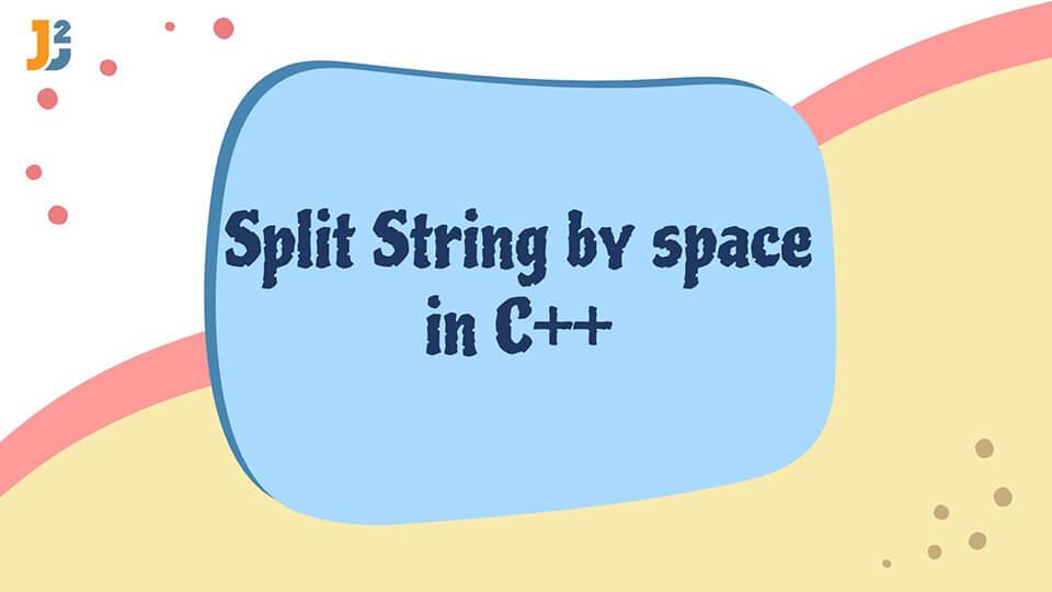 Split String by space in C++