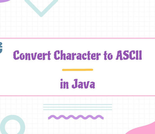 Convert chartacter to ascii in java