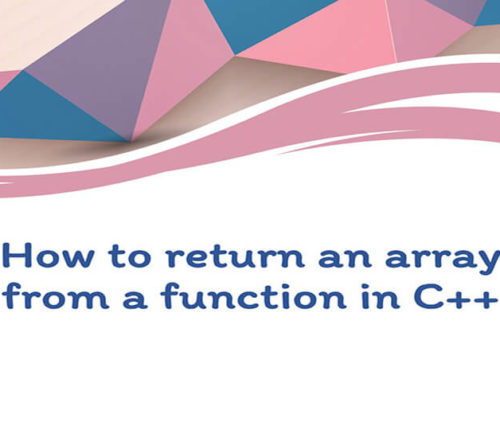 How to return array from function in C++