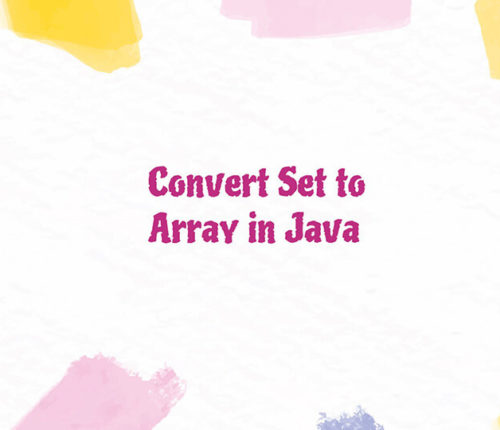 Java Set to Array
