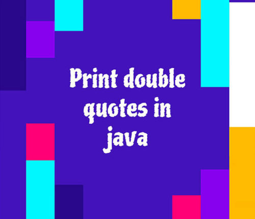 Print double quotes in java