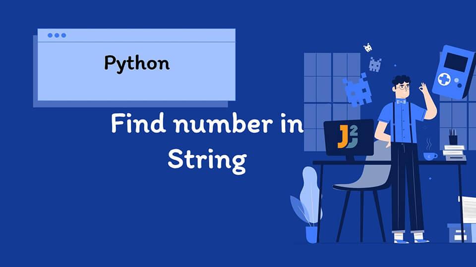 Python find number in String