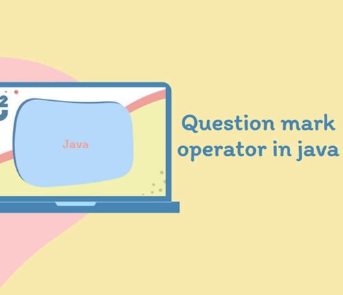 Question mark in java