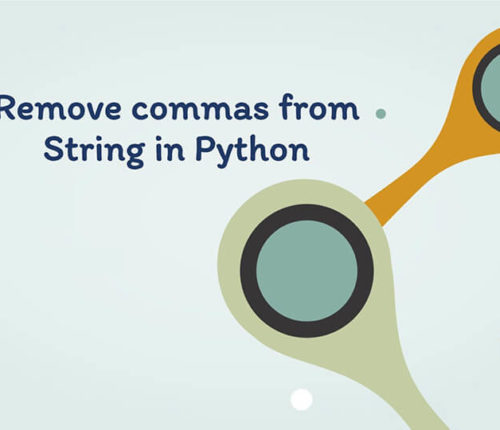 Remove commas from String in Python