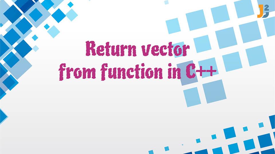 Return vector in C++