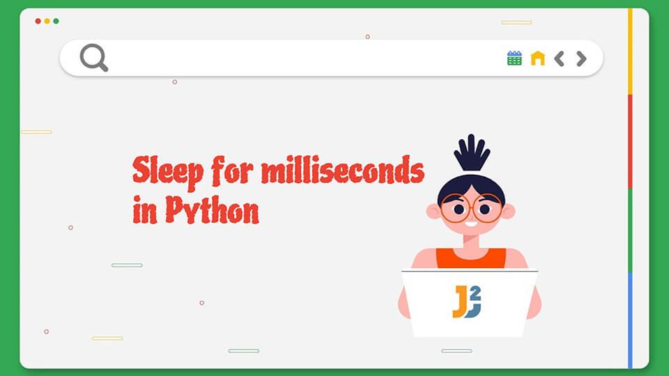 Sleep for milliseconds in python