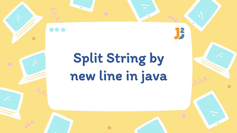 Split String by new line in java