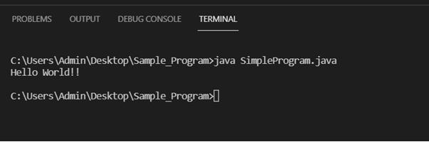 Java main method output 1