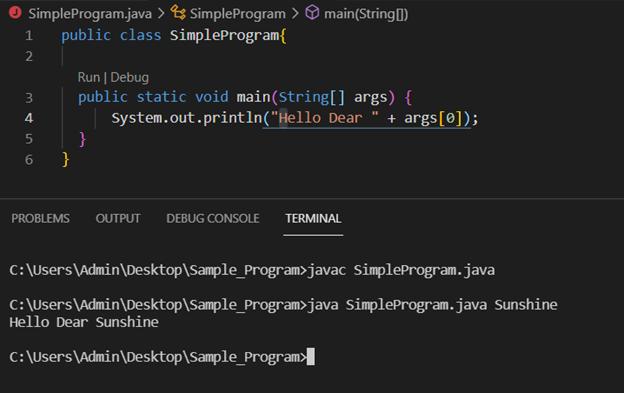 Java main method output 2