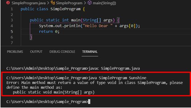 Java main method output 3