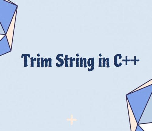 Trim String in C++