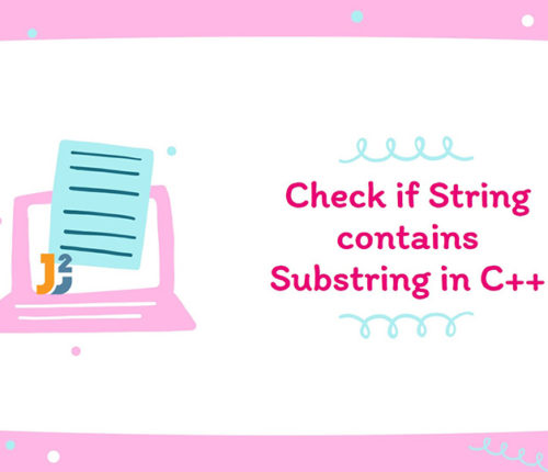 String contains C++