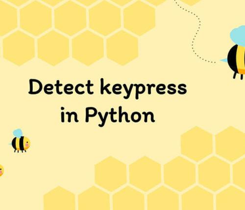 Detect keypress in Python