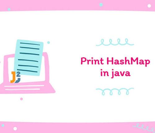 Print HashMap in java
