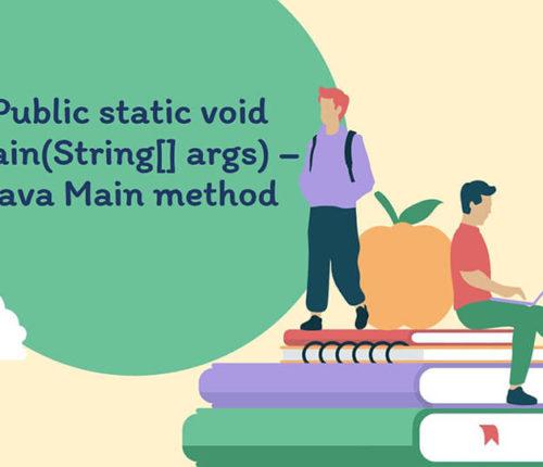 public static void main(String args[]) - Java main method