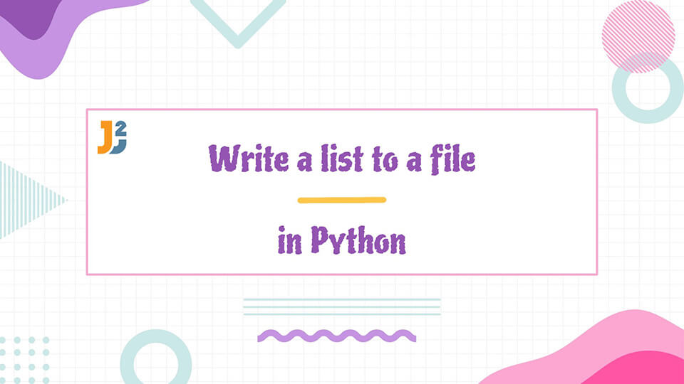Write a list to a file in Python