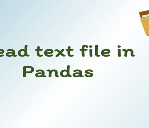 Read text file in Pandas
