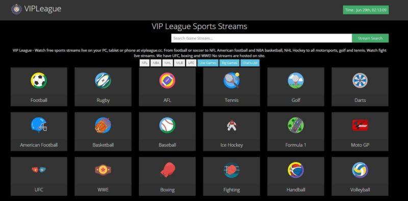 VIP League - Stream2watch alternatives