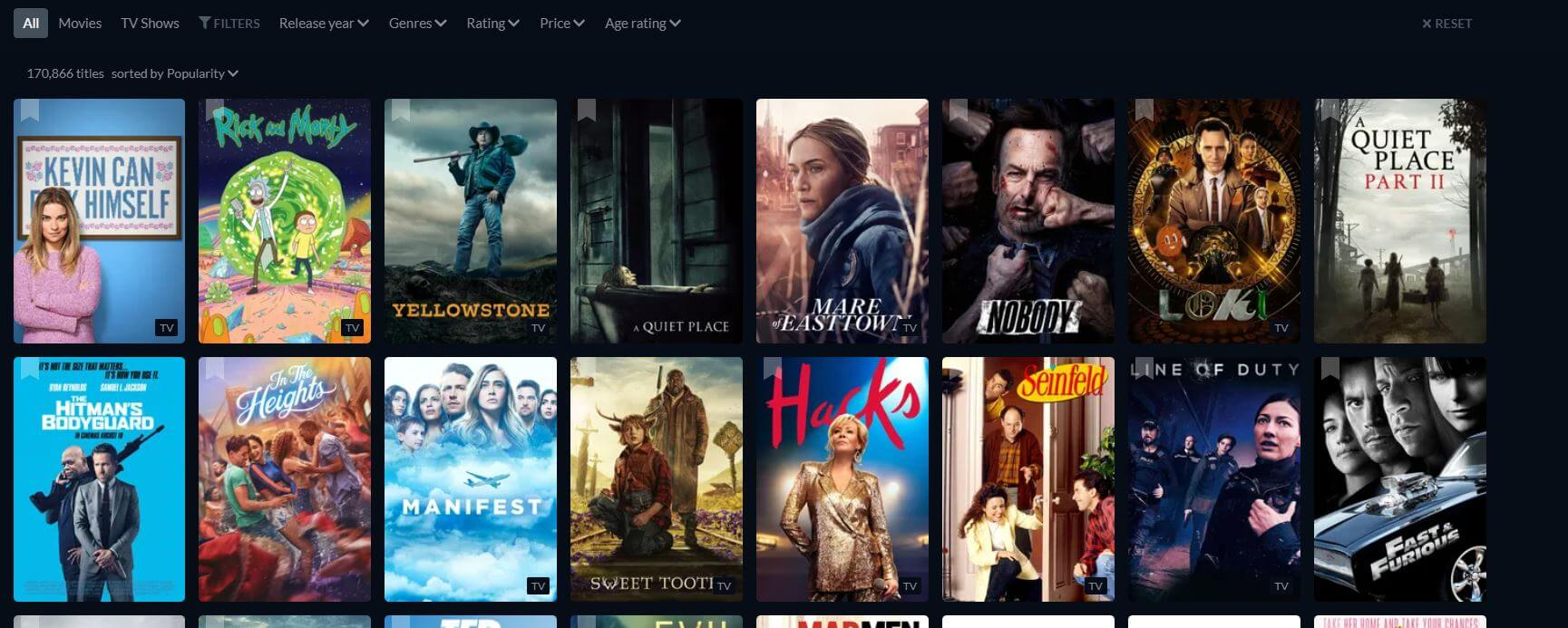 Just-watch sites like 123movies