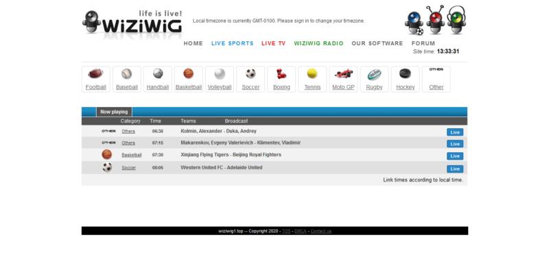 Wiziwig -  Stream2watch alternatives