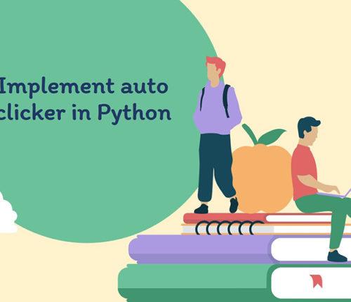 Auto clicker in Python