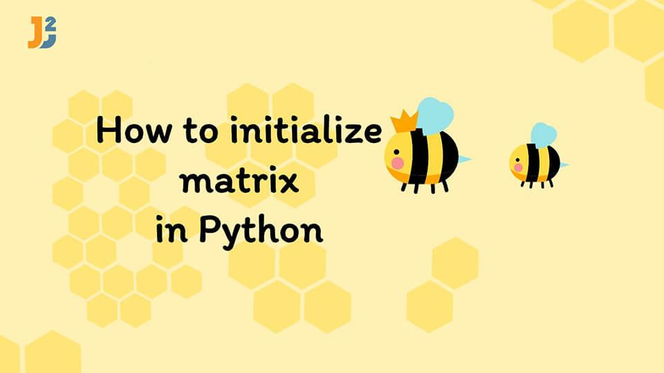 Initialize matrix Python