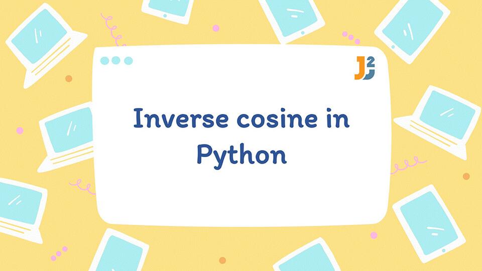Inverse cosine in Python