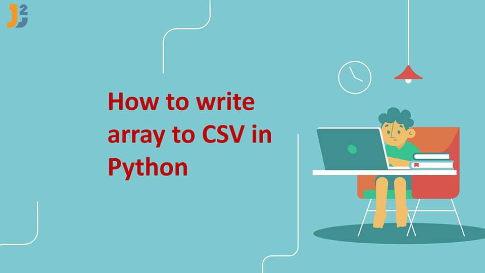 Write array to CSV in Python