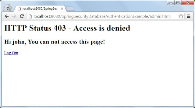 Spring security 403 customize page