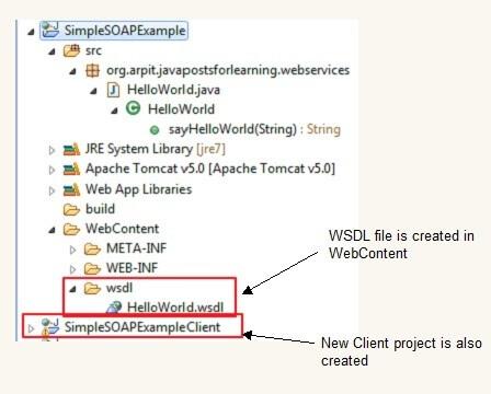SOAP web services project structure