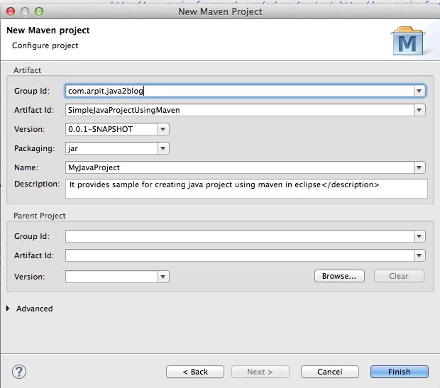 New Maven Java Project