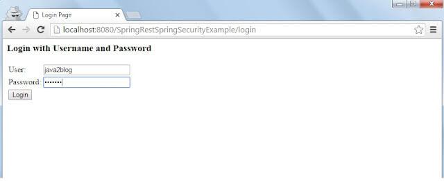 Spring Rest security login