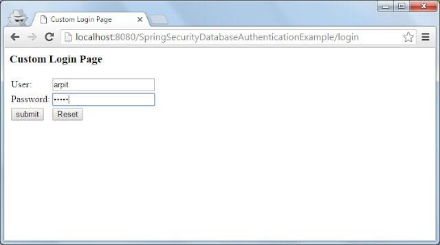 Spring Security login