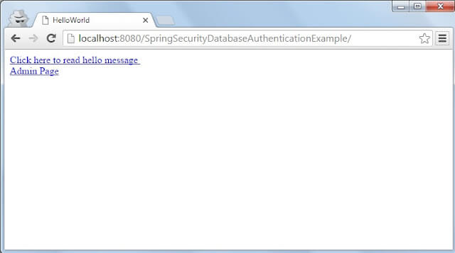 Spring Security database authentication